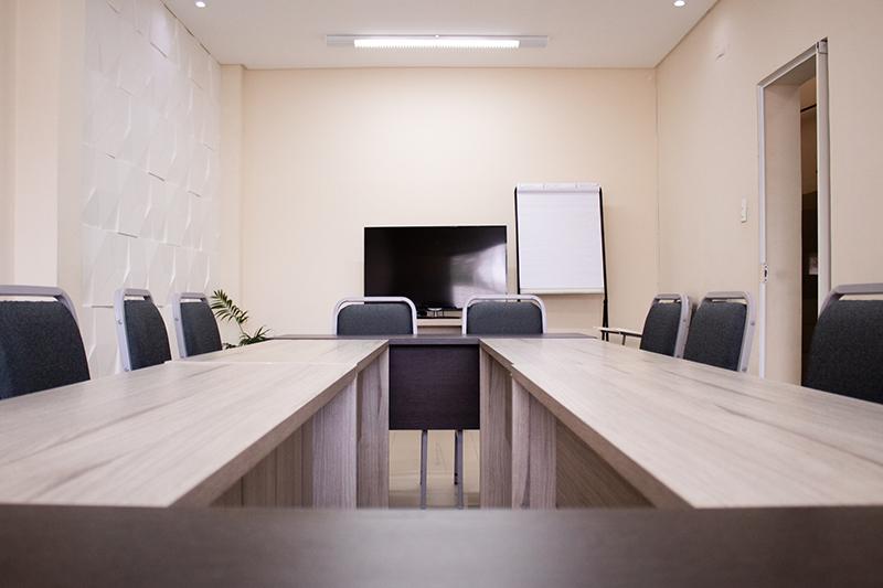 sala de reunião do espaço 107